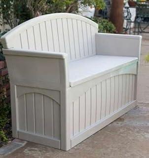 Surprising Amazon Com Suncast Storage Benches Patio Furniture Squirreltailoven Fun Painted Chair Ideas Images Squirreltailovenorg