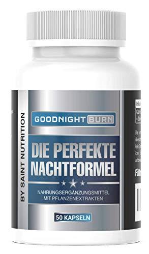 NEU: Saint Nutrition® GOODNIGHT F-BURN VEGAN Kapseln - 1 Kapsel für die Nacht mit Garcinia Cambogia - für Männer & Frauen, schnell + hochdosiert