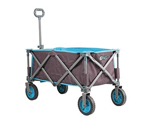Portal Outdoors Alf zusammenklappbarer Trolley, Robustes Gestell, 100 kg Tragkraft, perfekt für Festivals/Camping, Blau, Einheitsgröße