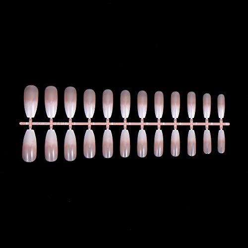 Künstliche Fingernägel, Halbmond-Muster, Ballerina, natürliche Nägel, Maniküre, Werkzeug für künstliche Fingernägel, volle Abdeckung (SM18200811)
