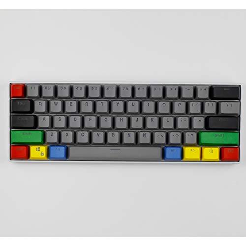 CSJD 61-Key Mechanische Toetsenbord Keycap, PBT Transparant Keycap 60% Keycap GH60 Keycap, C