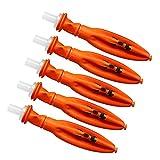 SeniorMar-UK 5 * Luftballons Halloween LED Lichtballons Orange Kürbis Laterne Urlaub Liefert Für Hof Rasen Garten Dekoration Orange 18cm