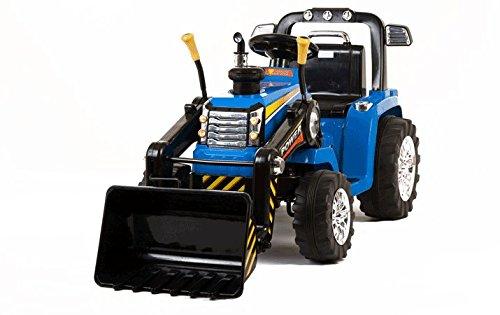 Tractor para niños con pala excavadora eléctrico de 12V y mando a...