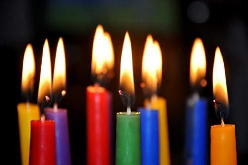 WZZPSD Puzzel Für Erwachsene Jigsaw Puzzle 1000 Bunte Kerzenflamme Bunte Kerzenflamme DIY Holz Puzzle Einzigartige Moderne Geschenk Wohnkultur Stil