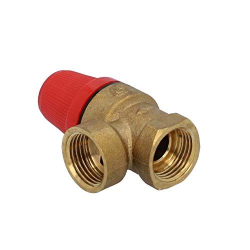 Sicherheitsventil 1/2'' IGxIG Varianten Ventile Heizung Wasser Überdruckventil (6 bar IG)