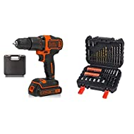 A compact two gear combi drill for all screw driving, drilling and hammer drilling into wood, metal and masonry All metal motor and gearbox that deliver 21 000 BPM for hammer drilling in masonry applications and 0 - 1 400 RPM variable speed for drill...