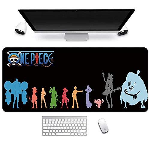 ITBT One Piece Tappetino Mouse Gaming, Grande Anime Mouse Pad XXL 900x400mm Confortevole, Lavabile, 3mm Antiscivolo Tappetino Scrivania Supporto per Ufficio Computer, Adatto per Computer e PC, F