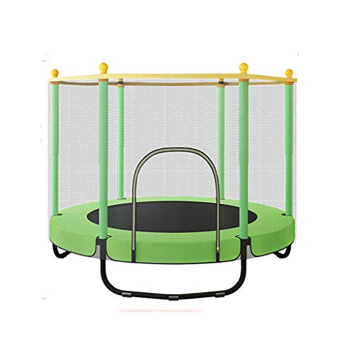 Outdoor Trampoline For Children, With Safety Net Cover And Garden Round Bouncer, Indoor And Outdoor Trampoline For Home School Entertainment(Color:green)