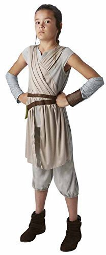 STAR WARS - THE FORCE AWAKENS ~ Rey (Deluxe) - Kids Costume 11 - 12 years by RUBBIES FRANCE