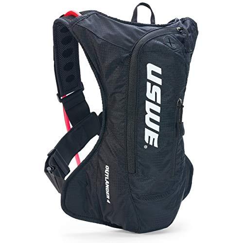 USWE Unisex– Adult's Outlander Hydration Backpack, Black, 4 Litres