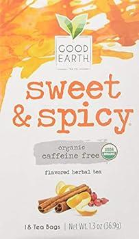 Good Earth Teas Organic Sweet and Spicy Herbal Caffeine Free Tea Bag 18 Count