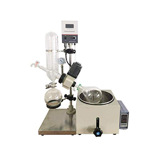 Buy Discount INTBUYING 5L Rotary Evaporator Lab Rotovap with Manual Lift Digital Controller 110V