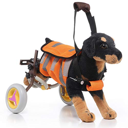 Silla de ruedas ajustable para perro con dos ruedas, ligera, patas de rehabilitación, carrito de perro, caminando asistido silla de ruedas para patas traseras