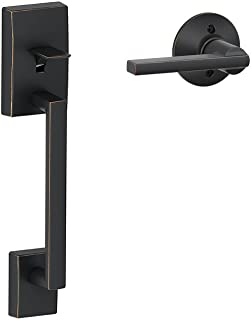 Schlage Lock Company Century Front Entry Handle Latitude Interior Lever (Aged Bronze) FE285 CEN 716 LAT