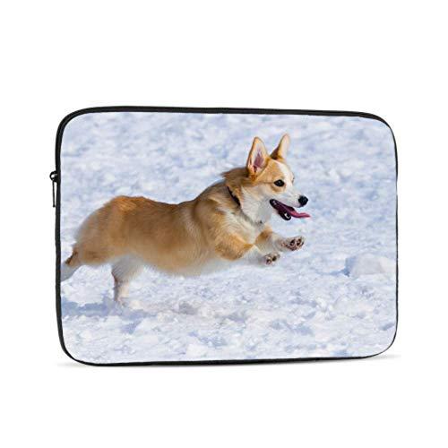 Laptop Sleeve Case 13 Inch Dog Breed Welsh Corgi Pembroke Runs Laptop Sleeve/notebook Computer Pocket Case/tablet Briefcase Carrying Bag