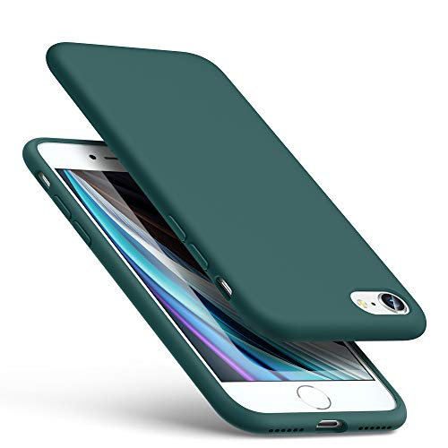 ESR iPhone SEケース 第2世代 iPhone8ケース iPhone7ケース 2020 新型 イッピーカラーソフトケース 液体シリコンゴムケースカバー 抜群の握り心地 スクリーン & カメラ保護 超なめらかで柔らかい裏地 衝撃吸収 グリーン