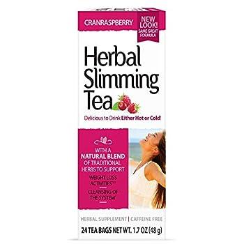 21st Century Slimming Tea Cran Raspberry 24 Count