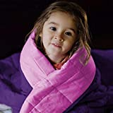 ZonLi Kids Weighted Blanket 10 lbs (41''x60'', Grey) Soft Weighted Blanket for Kids, 100% Cotton Material with Glass Beads