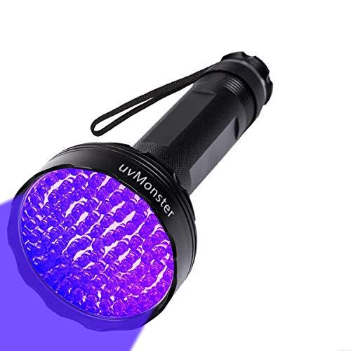 Linterna ultravioleta superbrillante con 100 ledes para mascotas, perros, gatos, detector de orina para mascotas, urina, manchas, linterna con luz UV negra para chinches, escorpiones, hogar y hotel