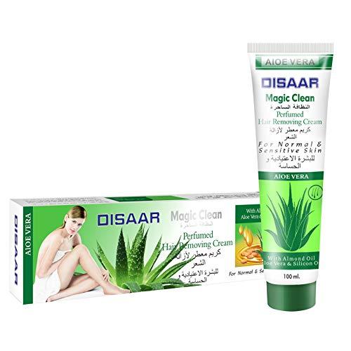 Hair Removal Cream - Premium Depilatory Cream - Skin Friendly Painless Flawless Hair Remover Cream For Women and Men 3.53 Oz