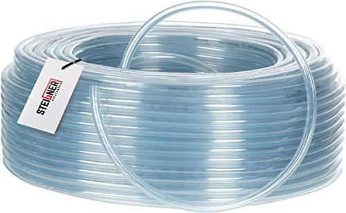 STEIGNER Benzinschlauch Wasserschlauch PVC Schlauch Transparent, Durchmesser: 13-17 mm, Länge: 5 m, SBS-20-5