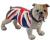 Middle-England 29cm British Bulldog Union Jack Flag Spiked Collar Standing Ornament