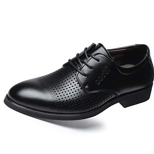 Heren Jurk Schoenen Oxford Schoenen Voor Mannen Lace Up Stijl Microvezel Leer Ronde teen Formele Schoenen Heren Holle Ademend en Deodorant Casual Business Oxfords Duurzame oxford schoenen