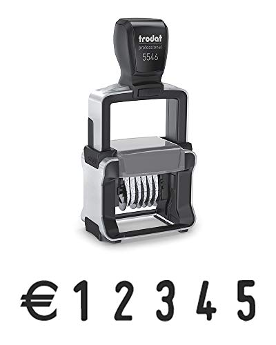 Sello Numerador Professional Trodat 5546 Autoentintable – 6-dígitos, impresión de 26 x 4 mm, tinta negra