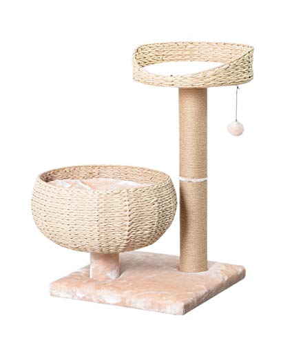 PetPals New Paper Rope Natural Bowl Shaped with Perch Cat Tree
