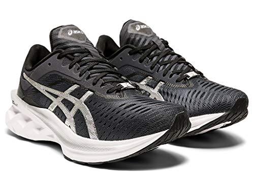 ASICS Women's Novablast Platinum Running Shoes, 10.5M, Carrier Grey/Pure Silver