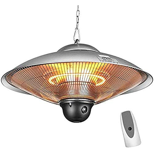JCJ-Shop 2200W Hanging Heater, Ceiling Patio Halogen Heater with Waterproof IP44 Rated and 3 Gears Power Adjustment