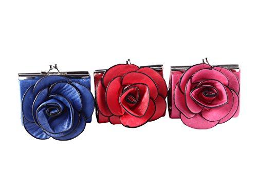 DISOK - MONEDEROS Flores - Precio Unitario - Monederos, monederitos Baratos Originales Carteras para Detalles, Regalos y Recuerdos de Bodas, Bautizos y Comuniones