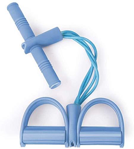 Elastisch touw voor de buikspieren, multifunctioneel, pedaal, trekker, zitondersteuning, elastisch touw voor thuis, kleine yoga-fitness, met anti-slip grip.