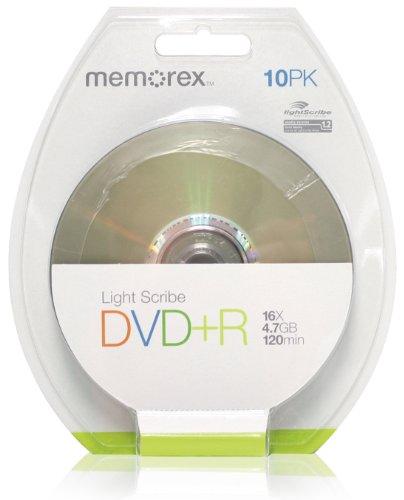 Memorex Dvd+r 4.7GB Lightscribe - Confezione da 10