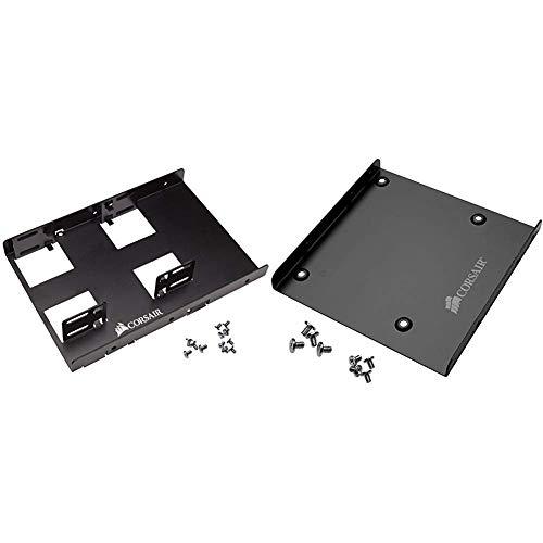 Corsair SSD Einbaurahmen (geeignet für 2 x SSD 6,4 cm (2,5 Zoll) auf 8,9 cm (3,5 Zoll)) schwarz & SSD Einbaurahmen (geeignet für 1 x SSD 6,4 cm (2,5 Zoll) auf 8,9 cm (3,5 Zoll)) schwarz