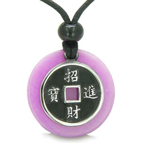 BestAmulets Amulet Lucky Coin Charm Medallion Purple Quartz Protection...