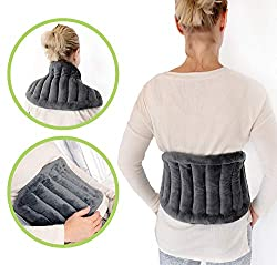 Soothing Company Microwavable Extra Large Heating Pad for Lower Back Pain, Legs, Stomach Cramps, Neck and Shoulders | Portable Hot/Cold Pain Relief | Soft, Reusable and Cordless Microwave Heat Wrap