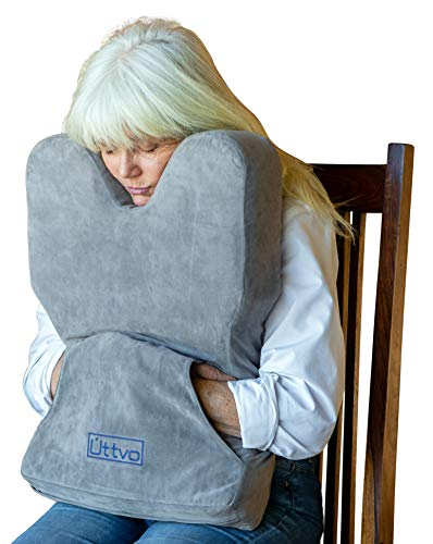 Úttvo Contour Sitting Pillow for Back and Neck Support - Perfect Comfort for Travel, Reading in Bed, Lumbar Support, Office Chair Cushion and Wheelchair Rest - Includes Compression Sack