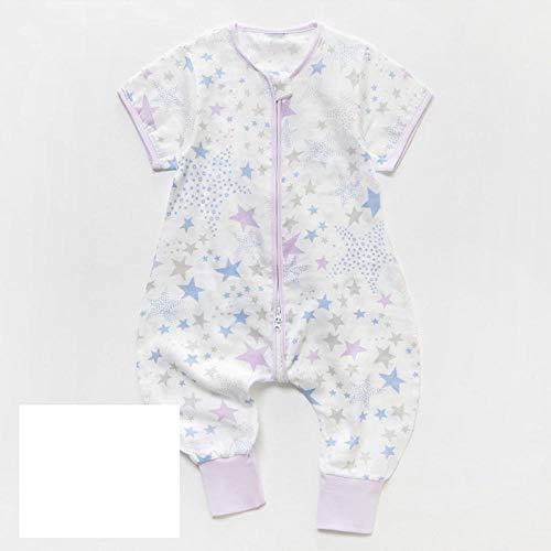 B/H Suave y Transpirable Saco de Dormir Bebé,Saco de Dormir de Verano para bebé con piernas Abiertas, Ropa de hogar de algodón, Gasa-M_110cm
