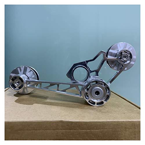 Tensor de Bicicletas 1-3 Velocidad Trasero Desviador de interferencias Guía de rodamientos Rueda DESABILLO DE DERECOLETE para Elementos Piezas DE Bicicletas 125G HERRAMIENTE (Color : Silver)