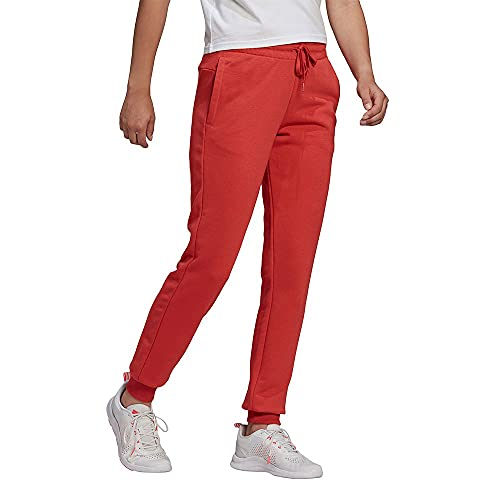 adidas GM5618 W Lin FT C PT Sport Trousers Womens Crew Red Hazy Rose M