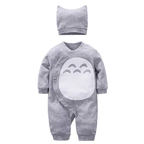 YFYBaby Baby Boy Girl Totoro Romper Cute Cartoon Cosplay Onesies Outfit Set Gray, 73(6-9Months)
