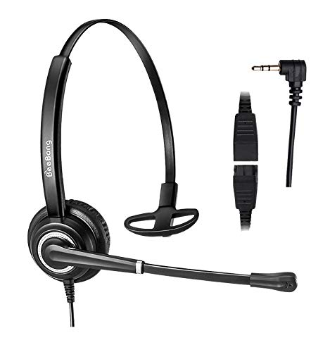 2.5mm Headset for Cordless Phone Telephone Headset with Noise Canceling Mic for DECT AT&T ML17929 Vtech Panasonic KX-TCA430 KX-T7630 Call Center Home Office Compatible with Jabra