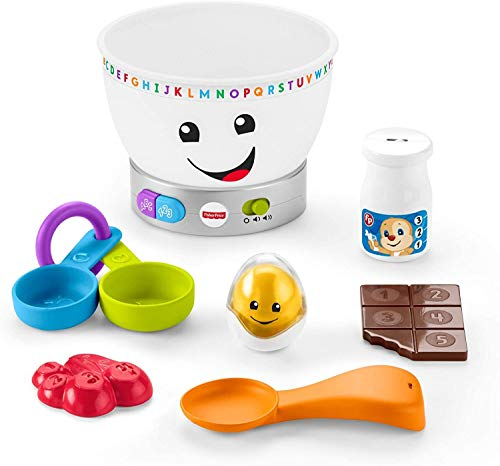 Fisher-Price Laugh & Learn Magic Color Mixing Bowl, Musical Baby Toy