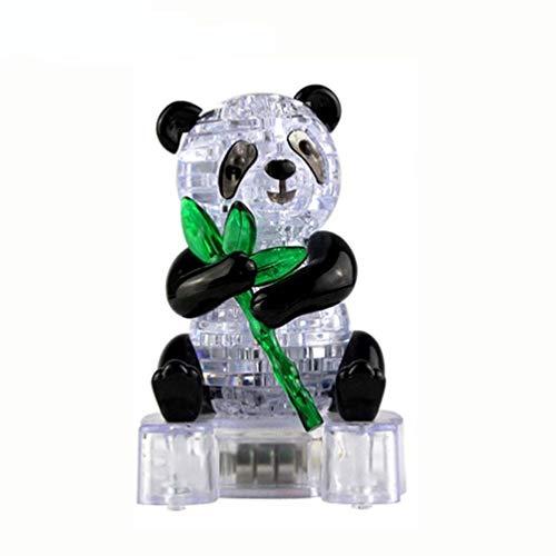Vektenxi Creative 3D Crystal Puzzle Cute Panda Model DIY Gadget Blocks Building Toy Gift Office Desk Toy Children Educational Toys Art Craft Durable and Practical