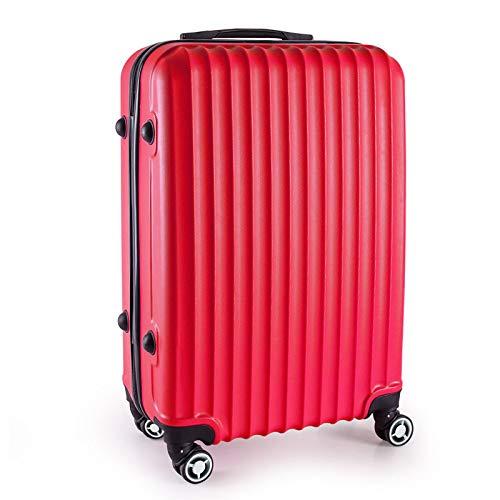LIZHAIMING Bolsa De Aire Maleta De Equipaje, Bolso De La Carretilla Prueba De Durabilidad Tiempo Súper Duro, con Cierre TSA De Lona Plegable Negro Expansibles (24 Pulgadas (52Cm) 42L),Rojo