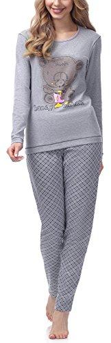 Italian Fashion IF Pijama de algodón de Dos Piezas Ropa de Dormir de Manga Larga Perfecta como Regalo | Modelo Otoño Invierno 2021