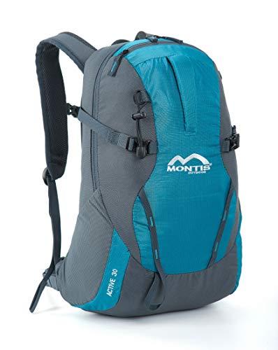 MONTIS Active 30, Business-, Studenten-, Schul-, Allzweck- und Tagesrucksack, bestens geeignet auch für Wanderungen, gepolstert für Laptop und Tablet, hervorragender Alleskönner.