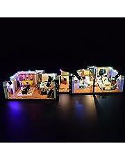 LYCH LED-verlichtingsset voor LEGO Friends apparatuurbouwset, verlichting compatibel met LEGO 10292 Monica & Rachels appartement, zonder Lego Set