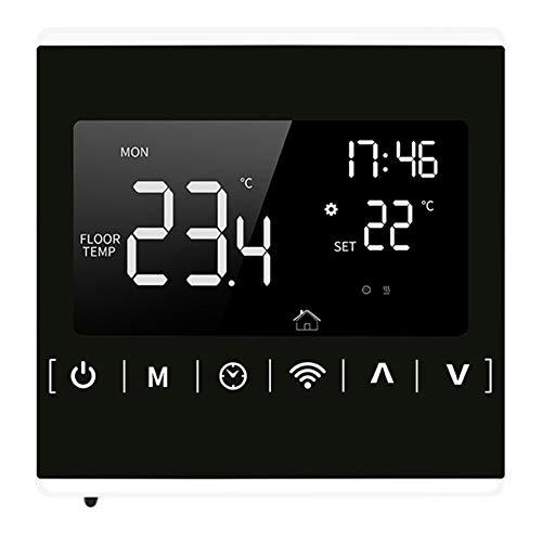 Youmine Controlador de Temperatura de Pantalla de Prensa Completa, Termostato de CalefaccióN EléCtrico Retroiluminado WiFi Adecuado para Home, Alexa